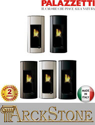 Pellet Stove Air Warm Airy Hermetic Home Palazzetti Ines 9 Power 9 Kw