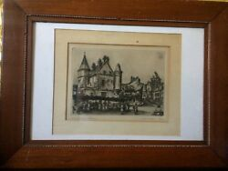Rare Old Etching Is Signed