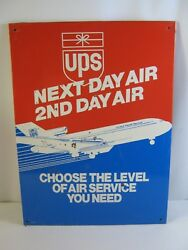 Vintage 90and039s Era United Parcel Service Ups Next Day Air 2nd Day Air Metal Sign