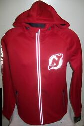 New Jersey Devils Nhl Soft Shell Jacket Red W/ Reflective Logos Med Lg Xl 2x