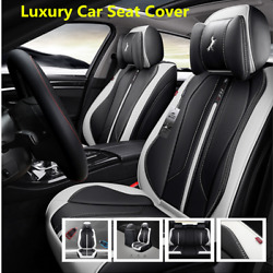 Comfortable Luxury Microfiber Leather Seat Cover Cushion Set  Fit For 5 Seat Car
