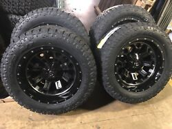 20 20x10 D561 Fuel Crush Wheels 33 Toyo At Tires Package 6x5.5 Chevy Gmc 1500