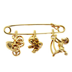 Cartier Gold Safety Pin Gold Brooch (0000330)