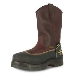 Oliver 65 Series Chemical-resistant Pull-on Leather Steel Toe Work Boots Us Sz8