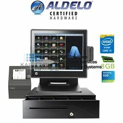 Aldelo Pro Quick Service Restaurant All-in-one Complete Pos System Bundle New