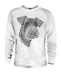 AIREDALE TERRIER SKETCH UNISEX PRINTED SWEATER TOP GREAT GIFT FOR DOG LOVER