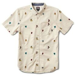 """X Marvel Houser Super Hero Button Up Short Sleeve Mens Sz L New """"sold Out"""""""