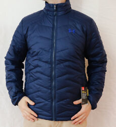 New Under Armour Coldgear Reactor Jacket Menand039s L-2xl-3xl Blue Ua Puffy Msrp 200