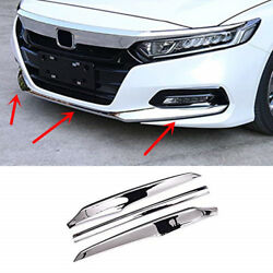 Abs Chrome Car Accessories Front Bumper Cover Trim For Honda Accord 2018-2020