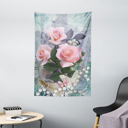 Floral Tapestry Vintage Rose Romance Print Wall Hanging Decor