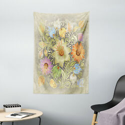 Flower Tapestry Vintage Bouquet Bridal Print Wall Hanging Decor