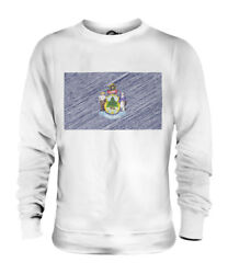 Maine State Scribble Flag Unisex Sweater Top Gift Mainer Football