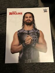 WWE Seth Rollins Official Promo Photo Unsigned 8 X 10 Rare HTF WWF WCW NXT