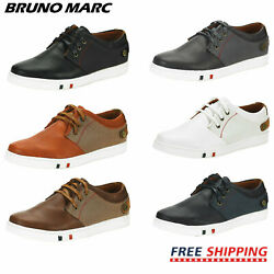 BRUNO MARC Mens Casual Shoes Slip On Lace Up Waking Shoes Fashion Sneakers $26.59