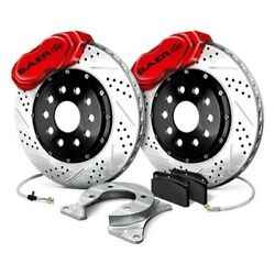 For Pontiac Grand Prix 73-77 Baer Ss4 Plus Drilled And Slotted Rear Brake System