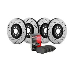 For Nissan Maxima 12-18 StopTech Street Drilled & Slotted Front & Rear Brake Kit