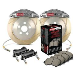 For Audi S3 2015-2019 StopTech 83.896.6700.R3 Trophy Slotted Front Brake Kit