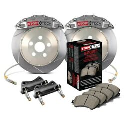 For Audi S3 2015-2018 StopTech 83.896.6700.R1 Trophy Slotted Front Brake Kit