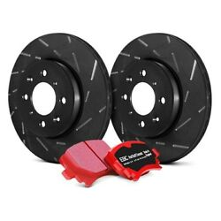 For Ford Escort 1997-2003 EBC S4KR1000 Stage 4 Signature Slotted Rear Brake Kit