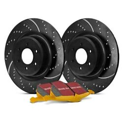 For Ford Escort 97-03 EBC Stage 5 Super Street Dimpled & Slotted Rear Brake Kit