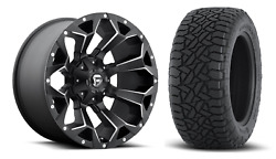 5 20x10 Fuel D546 Assault 35 At Wheel And Tire Package Jeep Wrangler Jk