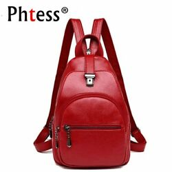 2019 Small Leather Backpacks For Girls Sac a Dos Female Travel Shoulder Bag