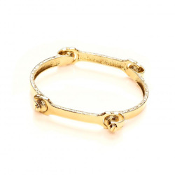 9ct Yellow Gold Hallmarked Solid 4 Piece Bone Gents Bangle- Delivery 4 Weeks