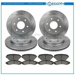 Ceramic Brake Pads And Rotors Front Rear For Gmc Sierra 1500 2014-2016