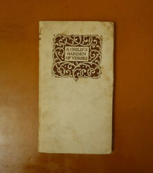 A Child's Garden of Verses By Robert Louis Stevenson First Edition 1899 Limited