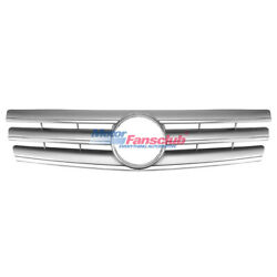 3 Fence Front Silver CL Style Grill For Mercedes SL Class W129 R129 1990-2002