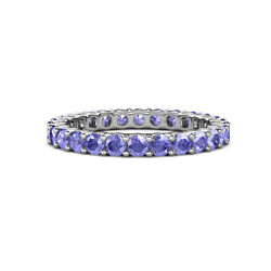 Tanzanite Common Prong Womens Eternity Ring Stackable 1.98ctw 14k Gold Jp19885