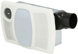 NuTone Ceiling Bathroom Exhaust Fan with Light Heater 100 CFM Polymeric Grille