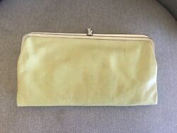 Hobo International Lauren Clutch Mint Green Leather Double Frame Wallet Clutch