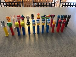 Lot Of 26 Collectible Assorted Pez Candy Dispensers 1980's