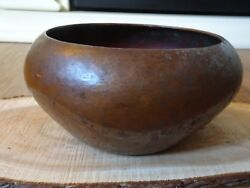 Robert Riddle Jarvie Hammered Copper Low Bowl Mission Copper Mission Style Decor