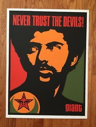 Shepard Fairey Obey Giant Never Trust Devils Islam Black Panther Power Poster