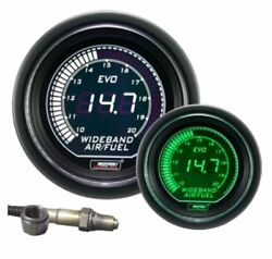 Prosport Evo Series Electrical Wideband Air Fuel Ratio Gauge Green And White
