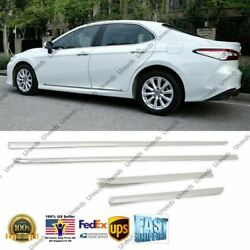 Fits Toyota Camry 2018-2021 Chrome Abs Body Side Door Molding Cover Trim Decor