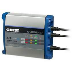 Guest On-board Battery Charger 10a 12v 2-bank 120v 2711a
