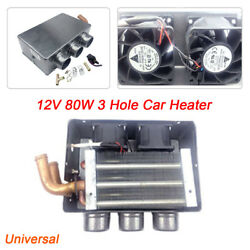 12V 80W 3 Hole Portable Auto Car Heating Cooling Heater Defroster Demister