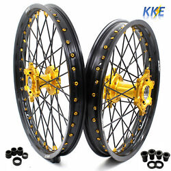 Kke 21 18 Cnc Enduro Wheel Rim Set Fit Suzuki Rm125 1996-2007 Rm250 1996-2008