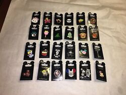 Disney Parks Trading Pin Lot Of 100 Pins New On Cards - Authentic