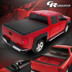 Roll-up Truck Bed Top Soft Tonneau Cover For 07-21 Toyota Tundra 8ft Fleetside
