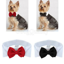 Fashion Adjustable Bow Tie Collar Necktie Bowknot Clothes For Pet Dogs Cats New $2.73