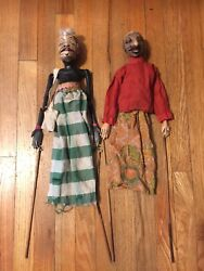 Antique Punch And Judy Vintage Toy Puppet Theater Doll Wooden Folk Art
