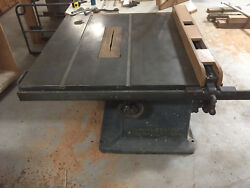 J. A. Fay And Egan Co. 14 Antique 1940and039s Table Saw Excellentandnbsp
