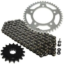 Black Drive Chain And Sprocket Kit For Honda Vt750c Shadow Ace750 1998-2003