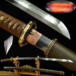 Honsanmai T10 Steel And Wrought Iron Clay Tempered 98 Type Officerand039s Sword 515
