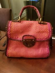 Prada Pattina Woven Madras Bag