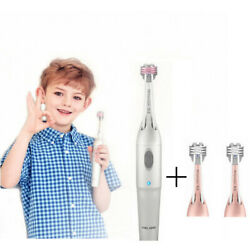Coolssha Electric Auto Toothbrush 7d Premium Child Silver 1+2 Brushes